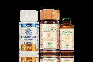 Freedom Endocrine Support Kit With Thyrosolve And Homeopathic Thyroidium 3X