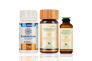 Doctor Recommended 4 Month Supply Freedom Endocrine Support kit with Thyrosolve and Homeopathic thyroidium 3X