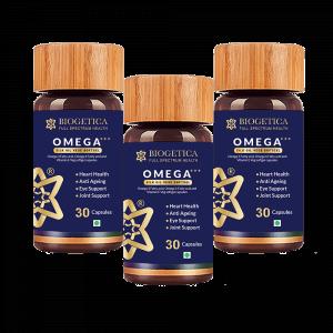 Omega +++ Silk Oil 30 Pack of 3